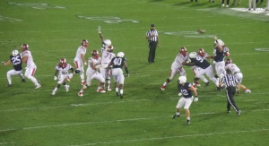 PSU DT Anthony Zettel (98) defends against a Rutgers pass in the dominant Lion win in 2015.