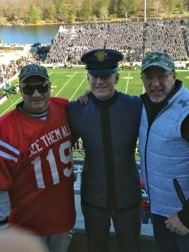 Cadet 2nd class Matthew McKee of Kansas City met with me and Bob Jones during the second half.  Bob worked with Matt's father in the past and he came by to say hello. He is considering the Infantry as his service when he makes his choice his First Class (senior) year.
