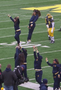 I just can't picture my old friend and work colleague Dave Imrick actually used to be able to throw nice looking women into the air at The Big House like this!