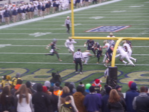 It was great to attend the Military Bowl wherE we saw Navy QB Keenan Reynolds tie and break several NCAA career scoring and rushing marks in the same game.