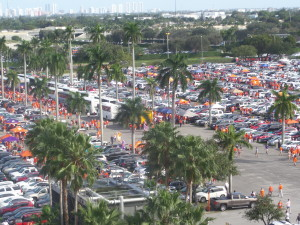 Tailgating Miami-style.