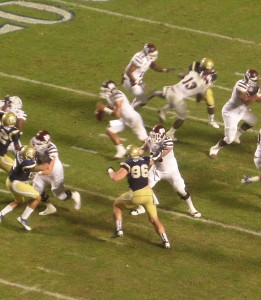We saw NT Adam Gotsis (96), an Aussie, play in Georgia Tech's two consecutive bowl games against Mississippi and Mississippi State. The Denver Broncos strengthened their defense with him in round 2.