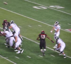 Calhoun's Spartan teammate, QB Connor Cook, followed him to the Raiders in the fourth round.