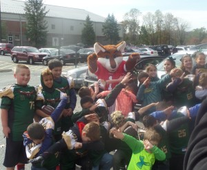 The Red Fox mascot gets young fans fired up before the game for an FCS bid!