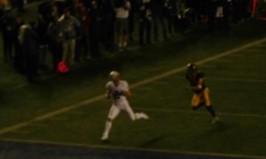 WR Irwin Trenton beats a defender to the end zone for his 30-yard touchdown catch.